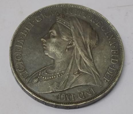 1900 Victorian - silver Crown coin
