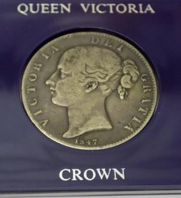 1847 Victorian - silver young head - Crown coin