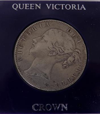 1845 Victorian - silver young head - Crown coin