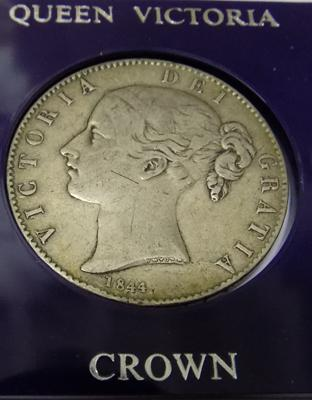 1844 Victorian - silver young head - Crown coin