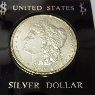 American - 1887 silver Morgan Dollar Philadelphia mint