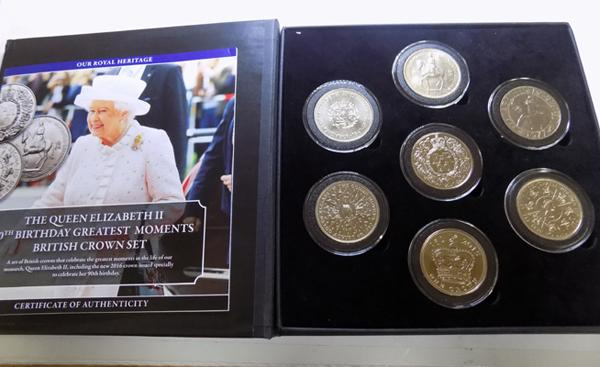 Queen Elizabeth 7 Crown Set