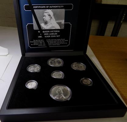 1887 Queen Victoria Golden Jubilee silver 7 coin set