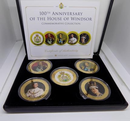 Set of five 100th Anniversary Windsor coin set