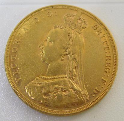 1887 Victorian 22 ct Gold Full Sovereign