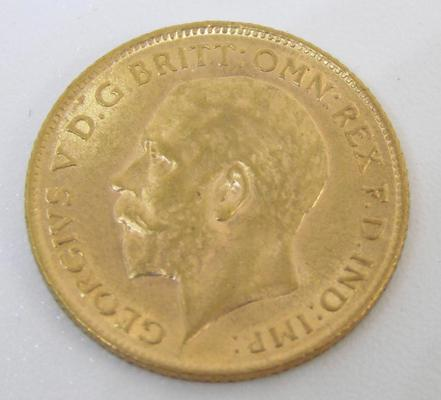1911 George V 22 ct Gold Half Sovereign