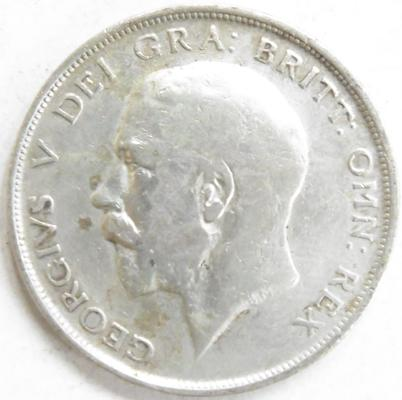 1911 George V Half Crown coin