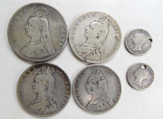 Collection of British silver coins
