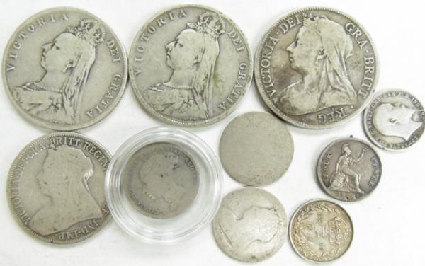 Collection of British silver Victorian coins