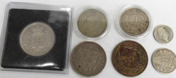 Mixed dates antique coins & tokens inc silver
