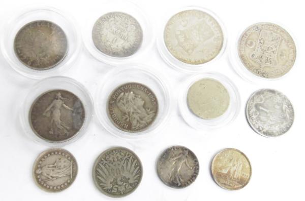 Collection of foreign coins inc French & Dutch coins & silver