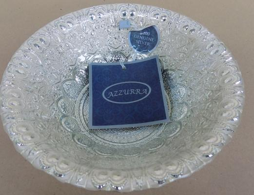100% genuine silver glass bowl (6 1/2 inches diameter)