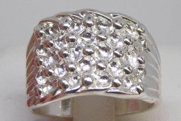 925 Stamped silver keeper ring size W 1/2