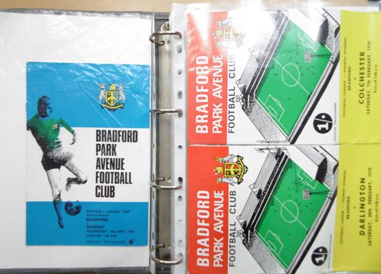 Folder of over 50 football programmes, mainly 1950's/60's, incl. BPA