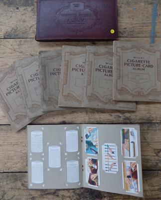 Selection of early Wills cigarette books, x 8, all complete