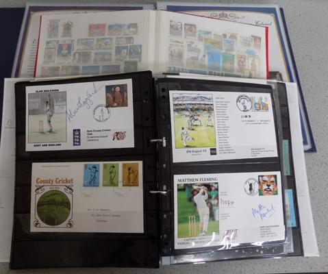 3 albums of stamps incl. signed covers etc...