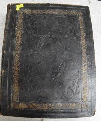 Holy Bible, editor John Eadie, leather bound Victorian, many full page maps and illustrations