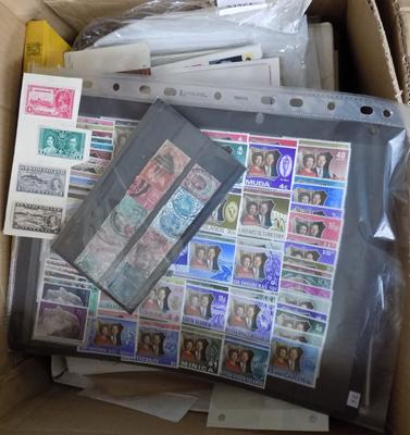 Box of stamps, earlier material etc...