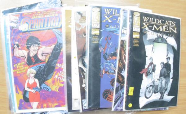 20 vintage 1980's 'Adult Comics' J. Chan, Spartan X, Wild Cats, X-Men