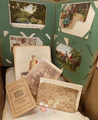 Assortment of postcards & ephemera