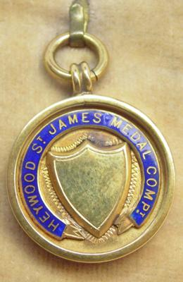 9ct gold St. James fob