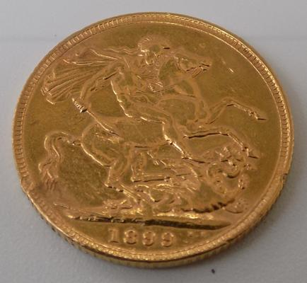 Full 22ct 1899 Sovereign