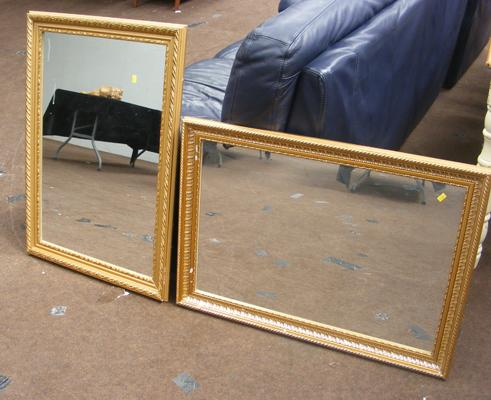 2 rectangular mirrors, approx. 2 feet x 3 feet