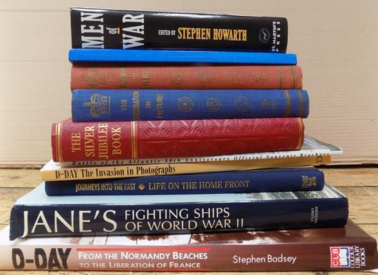 Selection of D-Day and war books and 3 historical timeline books