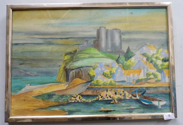 Water colour by local artist - Tom Muff