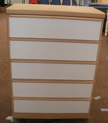 5 drawer unit, 44 inches tall