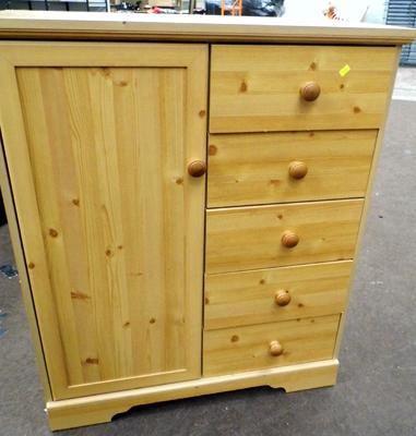 Pine coloured cupboard/drawers