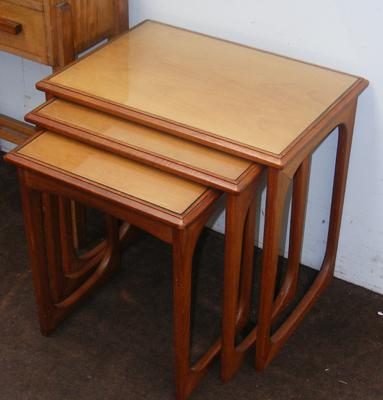Ercol style nest of 3 retro tables