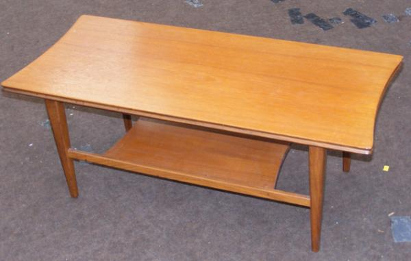 Retro Danish teak coffee table