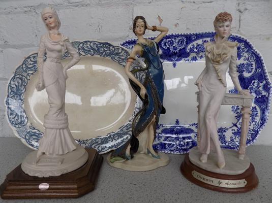 Selection of ceramics incl. figurines ( 1 figurine at fault)
