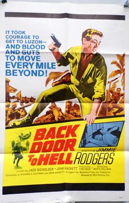 Original 1964, one sheet poster 'Back Door to Hell'