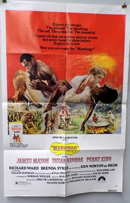 1975, one sheet poster 'Mandingo'