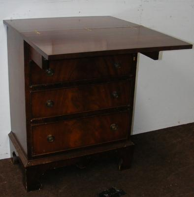 4 Drawer side table (with fold out top)