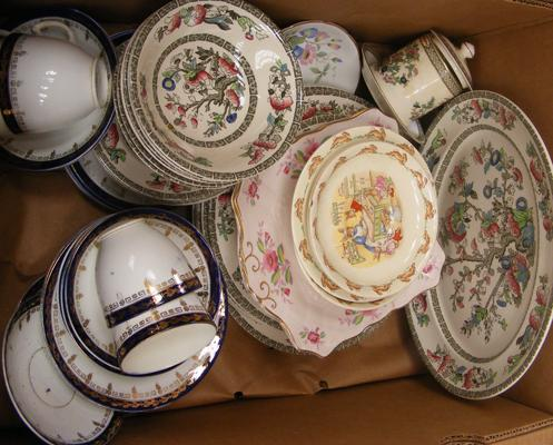 Box of ceramics inc Johnson Bros & Bunnikins