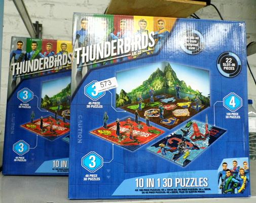 2 Thunderbirds 30 piece puzzles
