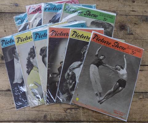Collection of 10 Picture Show magazines