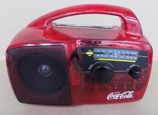 Rare vintage Coca Cola wind up radio - W/O