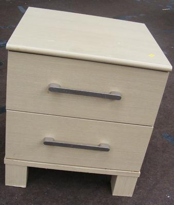 2 drawer bedside cabinet, 21 inches tall
