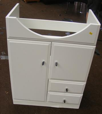 2 drawer, 2 cupboard vanity unit in white