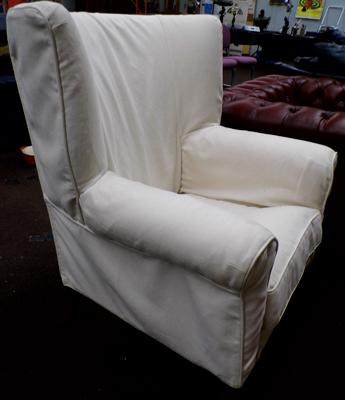 Cream fireside chair