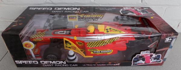 Boxed Speed  Demon racing car - complete