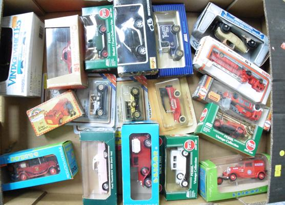 Collection of 18 boxed diecast cars & vans