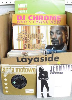 Box of records - Electronica, Trance, Soul, Disco, Motown, Dance etc...