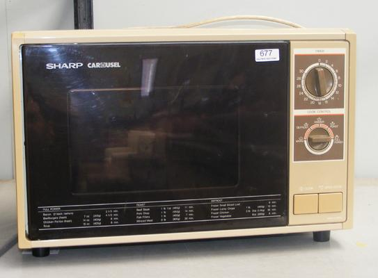 Sharp microwave oven w/o