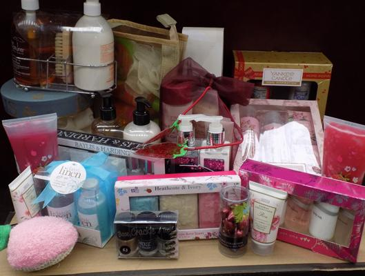 Box of new toiletries