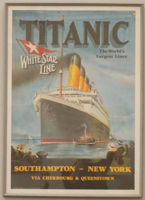 Large framed Titanic poster